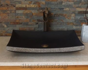 Rectangle Volcanic Rock Sinks Design For Bathroom From China Stonecontact Com