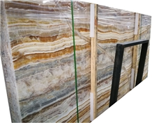 Natural Onice Wood Grain Yellow Onyx