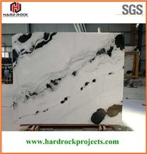 China Panda White Marble Slabs & Tiles/Black/Floor