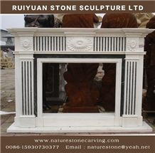 Fireplace Sculpture Mantel Handcarved Mantel