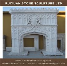 Sculpured Fireplace Mantel Antique Fireplaces