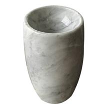Bianco Carrara Marble Round Wash Pedestal Sinks