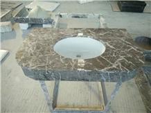 Buffet Grey Marble Vanity Top with Undermount Sink