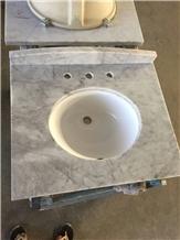 Carrara Marble Bath Vanity Standard Tops