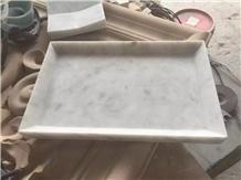 Carrara Marble Fruit Dish Kitchen Plate