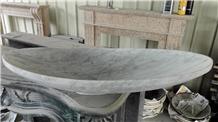 Carrara Vessel Sink,White Marble Bathroom Sinks
