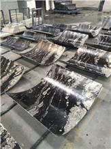 China Fantasy Granite Column Black Granite Column