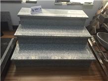 G602 Granite Step, Light Grey Granite Staircase