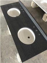 G654 Bathroom Padang Dark Granite Vanity Tops