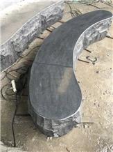 G654 Dark Grey Granite Garden Bench