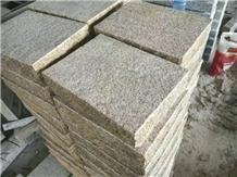 G682 Pavers, Rustic Yellow Granite Garden Flooring