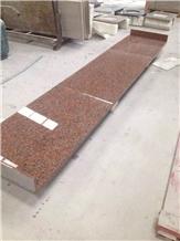 Maple Red Granite Tops Work Top Kitchen Countertop