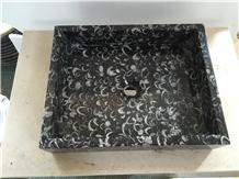 Sea Shell Marble Bath Sink Rectangel Basin