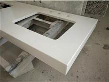 White Quartz Stone Vanity Top Quartz Standard Tops