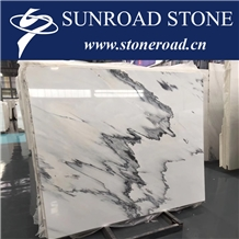 Calacatta Grey Marble, Ink White Marble Slab Tile