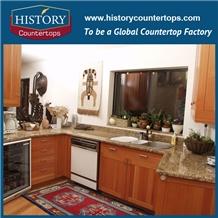 Brazil Yellow Granite Economic Kitchen Countertops