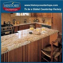 Yellow Granite Verniz Kicthen Custom Worktops