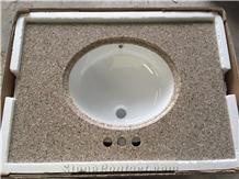 G682 Rust Yellow Granite with Sink Vanity Top