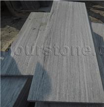 China Grooved/Chiseled Nero Santiago Granite Tlies