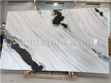 Panda White Marble Book Match for Feature Wall