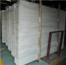 Wooden White Marble Slabs & Tiles for Floor Wall