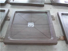 Bathroom Square Purple Wooden Marble Shower Trays