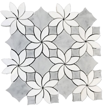 Promotion Carrara White Flower Marble Mosaic Tile