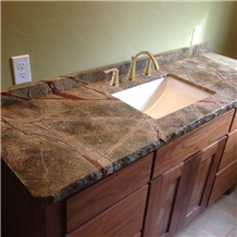 Rainforest Green Granite Vanity Countertop