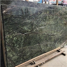 Rainforest Green Marble Slabs and Tiles