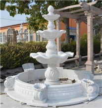 Outdoor Stone Garden Product Marble Water Fountain