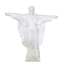 White Marble Hand Carved Decorate Religion Statue