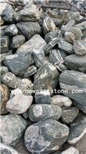 Garden Decoration Large Black River Rock Stones