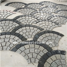 Wholesale Thin Grey Mesh Cobblestone Pavers