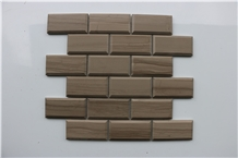 Athen Grey Big Brick Mirco Beveled Marble Mosaics