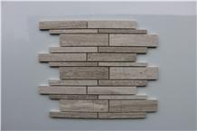 Light Dark Wooden Marble Mosaic,Tiles