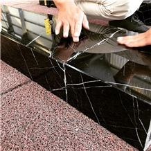 Black Nero Marquina Marble Staircase Steps Stairs