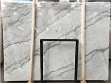 China Oriental Grey Marble Bookmatched Big Slabs