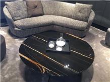 Laurent Black Marble Table