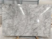 Super White Calacatta Quartzite Slab, Tiles