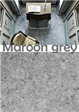 Maroon Grey Marble Slabs & Tiles, Egypt Grey Marble