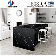 Black Marquina Quartz Stone Countertop
