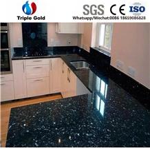 Emerald Pearl Granite Prefab Kitchen Countertops