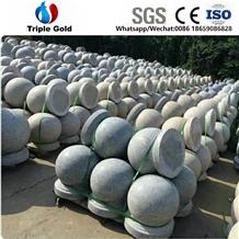 Light Grey G603 Car Parking Granite Balls Bollards