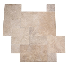 Medium Natural Travertine Pavers French Pattern