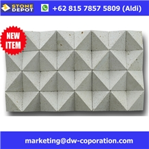 Bali White Limestone Hexagon Mosaic Wall Cladding