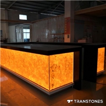 Commercial Counter Afterglow Transom Backlit Stone