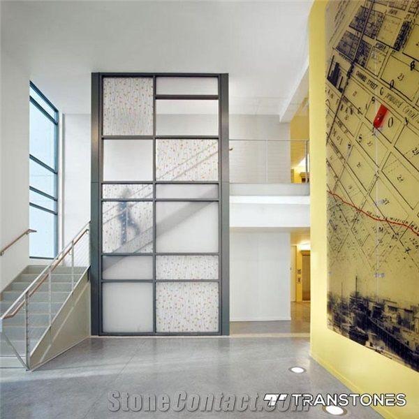 Yellow Gingko Thatch Translucent Acrylic Sheet Transtones Decorating Materials Co Ltd