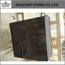 Absolute Black Wood Marble Big Slab,Delicate Tiles