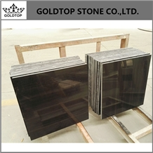 Absolute Pure Black Wood Marble Wall Slabs Tiles