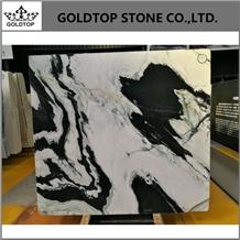 China Panda White Painting Marble Slabs Background